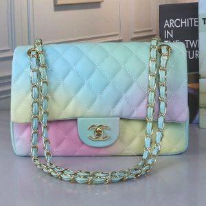 Chanel colorful rainbow bag